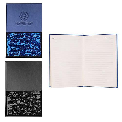 33757 - Hard Cover Sequin Pocket Journal