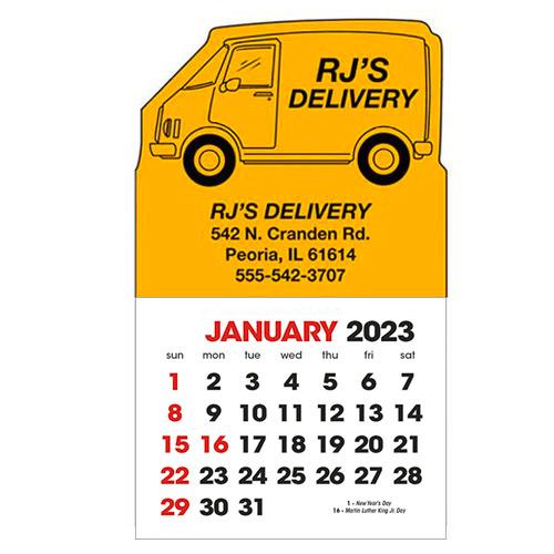 2583V - Stick-Up Calendars (Van)
