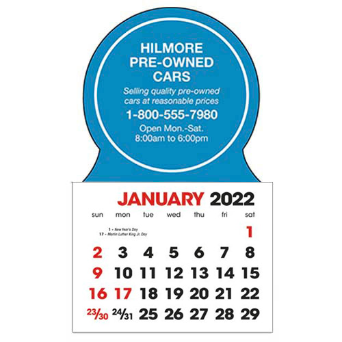 2583C - Stick-Up Calendars (Circle)
