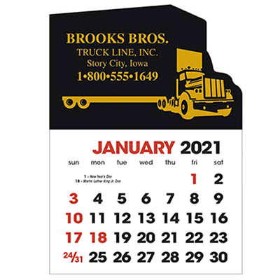2583ST - Stick-Up Calendars (Semi Truck)