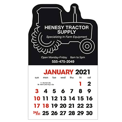 2583TR - Stick-Up Calendar Tractor