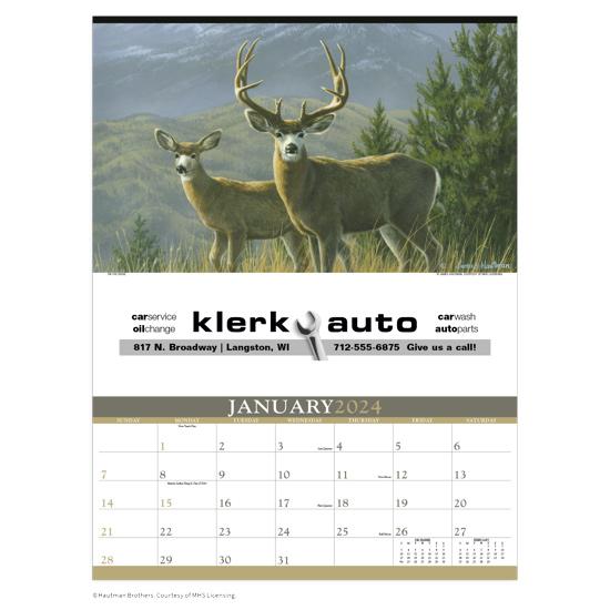 13070 - Wildlife Art Calendar