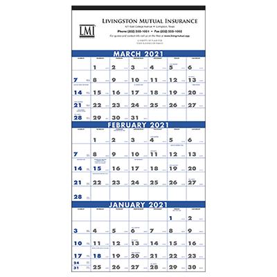 13085 - 3-Month Planner (4-Sheet)