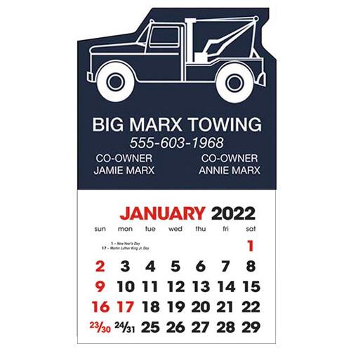 2583W - Stick-Up Calendar (Wrecker)