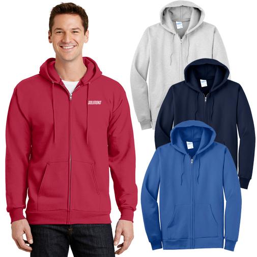 14127 - Port & Company®- Essential Fleece Full-Zip Hooded Sweatshirt