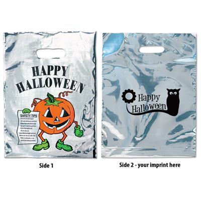 Silver Reflective Halloween Pumpkin Bag