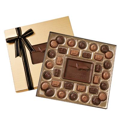 Medium Custom Chocolate Delights Gift Box Gold