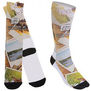 Men's Promo Socks with Black Heel & Toe