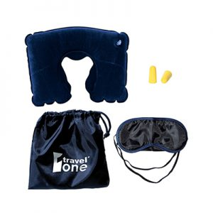 Travel Pillow Kit Ear Plugs & Eye Mask