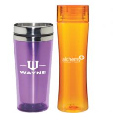 promotional plastic travel mugs & tumblers