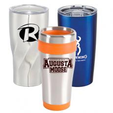 promotional stainless travel mugs & tumblers