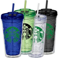 promotional free 24 hour rush cups & tumblers with straws