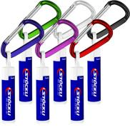 promotional spf 15 lip balm w/ carabiner