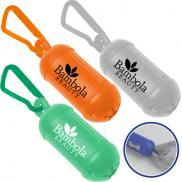 promotional bag dispenser with carabiner