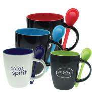 promotional bistro mug with spoon