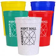 promotional 12 oz. smooth stadium cups