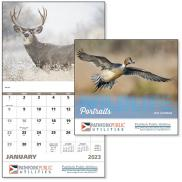 promotional wildlife portraits calendar