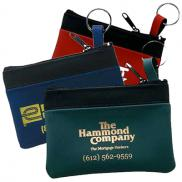 promotional mini zippered pouch
