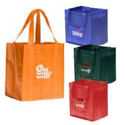 promotional big shopper grocery bag