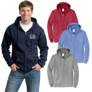 promotional port & company® - core fleece full-zip hooded sweatshirt