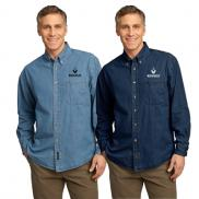 promotional port & company® - long sleeve value denim shirt