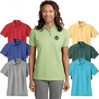 16634 - Port Authority® Ladies Heavyweight Cotton Pique Polo