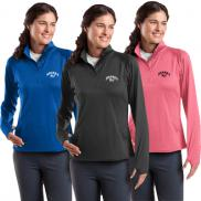 promotional sport-tek® ladies sport-wick® stretch 1/2-zip pullover
