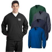 promotional sport-tek® v-neck raglan wind shirt