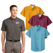 promotional port authority® short sleeve easy care shirt