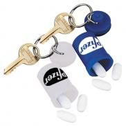 promotional waterproof pill holder key fob