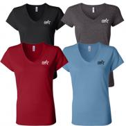 promotional colored ladies v-neck t-shirt