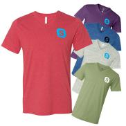 promotional bella + canvas - unisex jersey short sleeve v-neck tee (colored)
