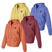 promotional cc ladies zip hooded sweatshirt