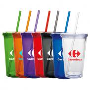 promotional 18 oz. double wall acrylic tumbler