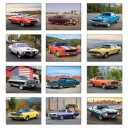 promotional muscle cars wall calendar