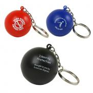 promotional key chain ball stress reliever