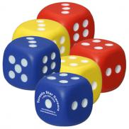 promotional dice stress reliever