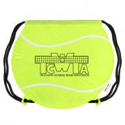 promotional gametime! tennis ball drawstring backpack