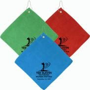 promotional the augusta microfiber golf towel