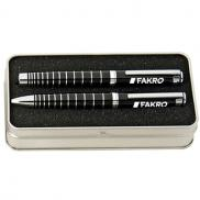 promotional sterling ballpoint & roller gift set