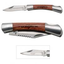 18476 - Small Silver Rosewood Pocket Knife