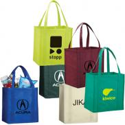 promotional little juno non-woven grocery tote