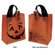 promotional orange halloween pumpkin shopper