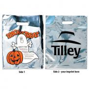 promotional silver reflective halloween ghost bag
