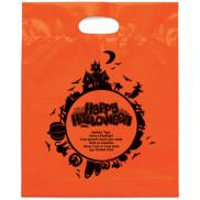 promotional fright night die cut halloween bag