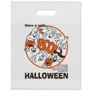 promotional boo ghost die cut halloween bag
