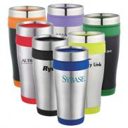 promotional 16 oz. carmel travel tumbler