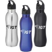 promotional 25 oz. curve stainless steel sports bottle
