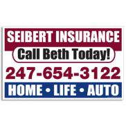 promotional car sign small rectangle