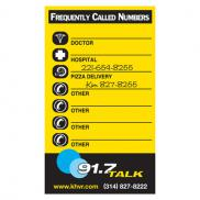 promotional info-mag frequently called numbers